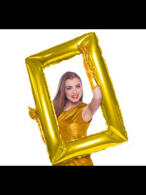 Folat Folieballon - Selfie lijst - Schilderij goud - 60x85cm - Niet voor helium