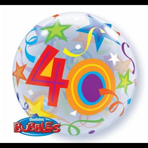 Qualatex Folieballon - 40 Jaar - Bubble - 56cm - Zonder vulling