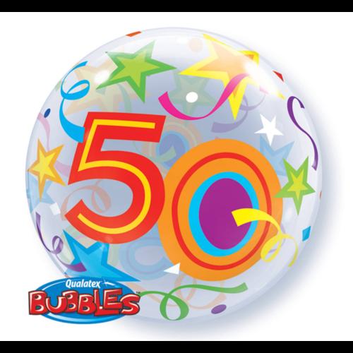 Qualatex Folieballon - 50 Jaar - Bubble - 56cm - Zonder vulling