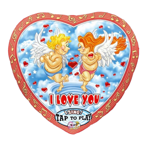 Anagram Folieballon - I love you - Met muziek - 71cm - Zonder vulling