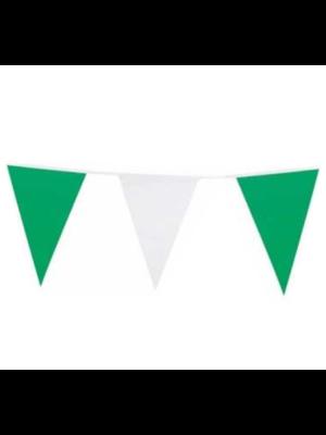 VC Vlaggenlijn - Groen & wit - 6m