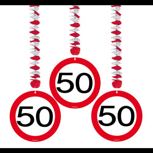 Folat Hangdecoratie - 50 Jaar - 3st.