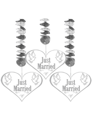 Folat Hangdecoratie - Just married - 3st.