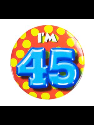 Paperdreams Button - 45 Jaar - I'm 45 - Klein