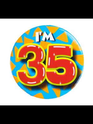 Paperdreams Button - 35 Jaar - I'm 35 - Klein