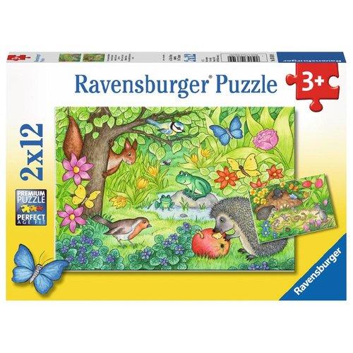 Ravensburger Puzzel - Dieren in onze tuin - 2x12st.