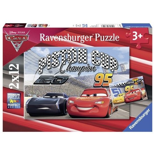 Ravensburger Puzzel - Cars - Piston cup - 2x12st.