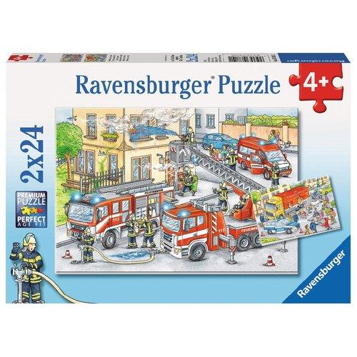 Ravensburger Puzzel - Brandweer - Helden in actie - 2x24st.
