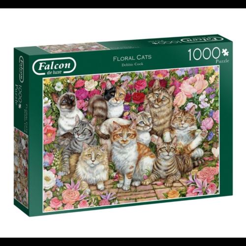 Puzzel - Bloemen & katten - 1000st.