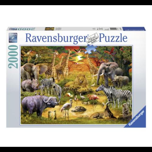 Ravensburger Puzzel - Bijeenkomst bij de waterplaats - 2000st.