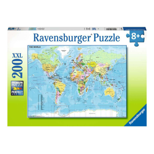 Ravensburger Puzzel - Wereldkaart - 200st.