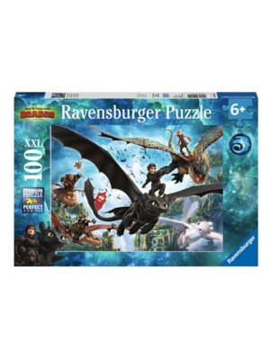 Ravensburger Puzzel - De verborgen wereld - Hoe tem je een draak - 100st.