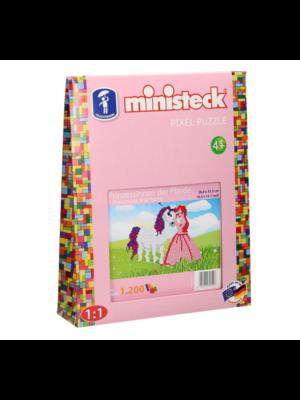 Ministeck Ministeck - Mozaïek - Prinses & paard - 1200dlg.
