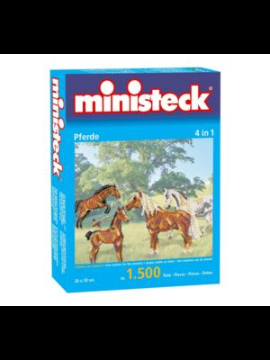 Ministeck Ministeck - Mozaïek - Paarden - 4 In 1 - 1500dlg.