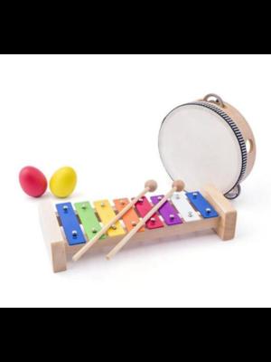 Muziekset - Xylofoon, tamboerijn & 2 samba eieren