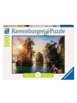 Ravensburger Puzzel - Drie rotsen in Cheow, Thailand - 1000st.