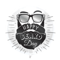 Folieballon - Happy beard day - Zonder vulling