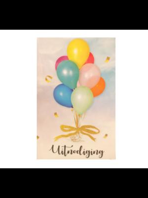 Interstat Uitnodigingskaarten - Ballonnen - 6st.