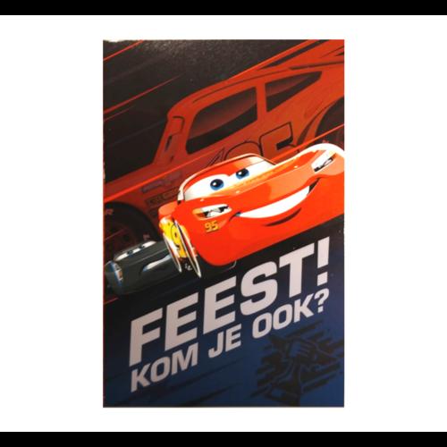 Interstat Uitnodigingskaarten - Cars - 6st.