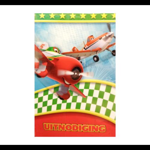 Interstat Uitnodigingskaarten - Cars - Planes - 6st.