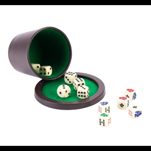 Pokerbeker - Met deksel & stenen