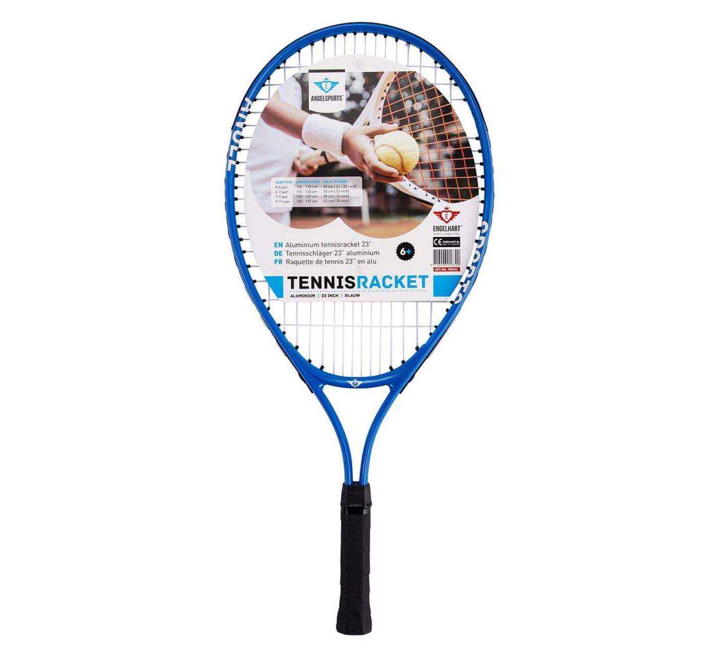 Tennisracket - Aluminium - Blauw - 58cm