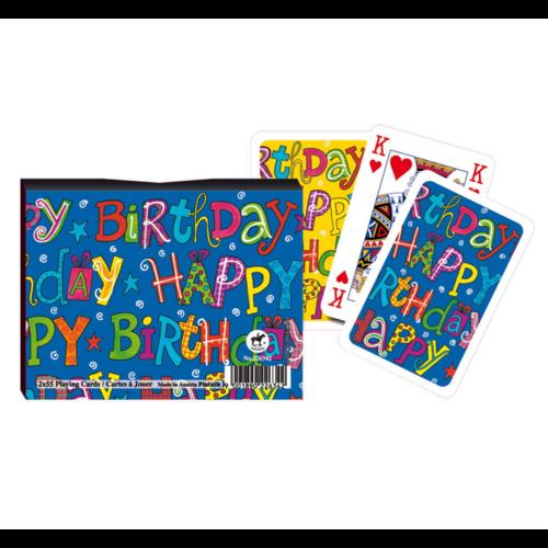 Piatnik Speelkaarten - Happy birthday - In geschenkdoosje
