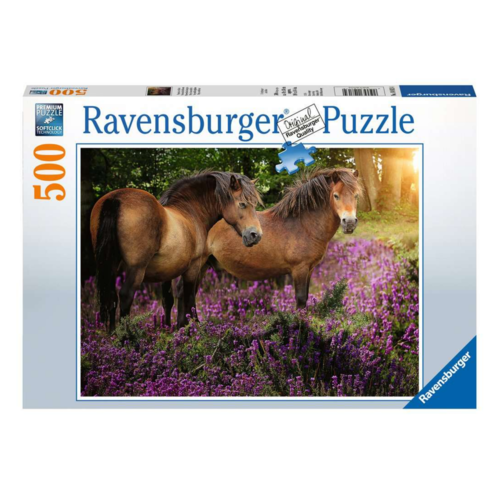 Ravensburger Puzzel - Pony's op de hei - 500st.
