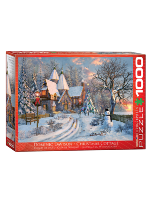Eurographics Puzzel - Cottage in kerstsfeer - 1000st.