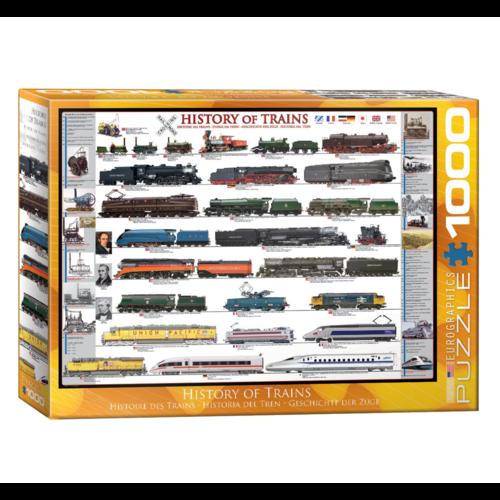 Eurographics Puzzel - Geschiedenis van de trein - 1000st.