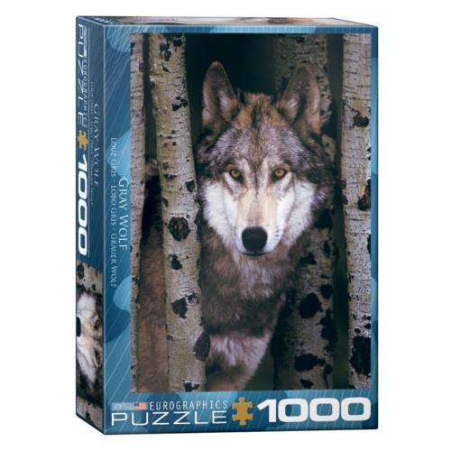 Eurographics Puzzel - Grijze wolf - 1000st.