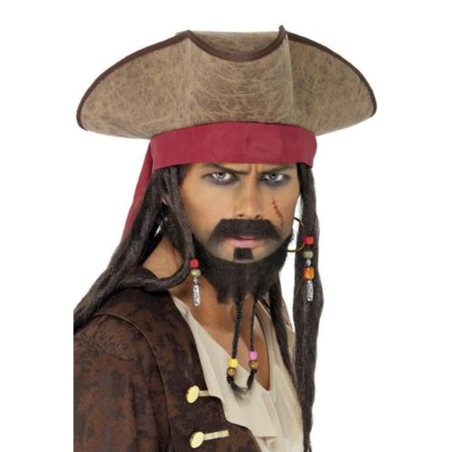 Smiffys Hoed - Bruin - Piraat van de Caraïben