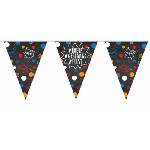 PartyXplosion Vlaggenlijn - Geslaagd - Schoolbord - 10m