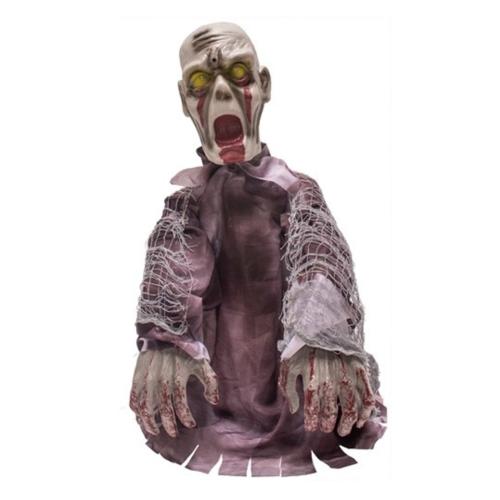 Partychimp Partychimp - Halloween - Zombie - Bewegende armen - Licht en geluid - 55cm
