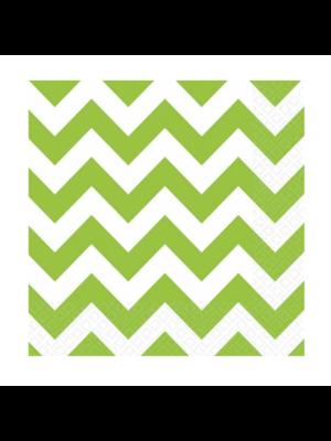Amscan Servetten - Groen & wit - Zigzag - 20st.