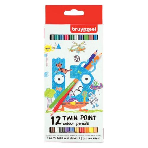Bruynzeel Kleurpotloden - Twin pointers - 12st.