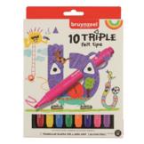 Viltstiften - Driekantig - 10st.