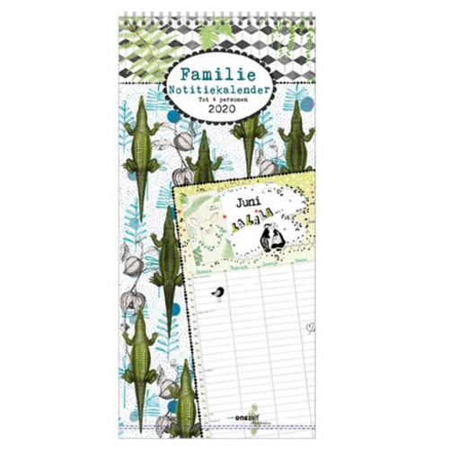 Comello Familieplanner - Krokodil - 2020 - 21x45cm