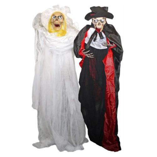 Folat Decoratief bruid & bruidegom skelet - Hangend