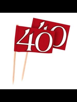 Folat Prikkertjes - 40 Jaar getrouwd - Robijn - 50st.