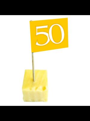 Folat Prikkertjes - 50 Jaar getrouwd - Goud - 50st.