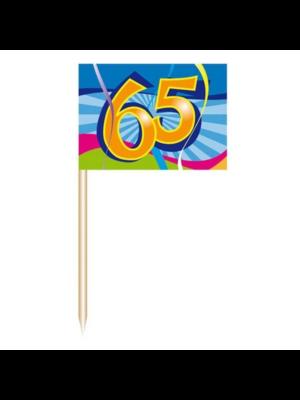 Folat Prikkertjes - 65 Jaar - 50st.
