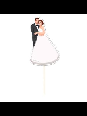 Folat Prikkertjes - Bruid & bruidegom - 10st.