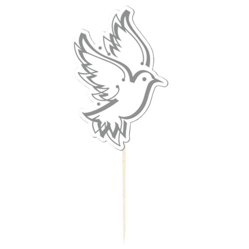 Folat Prikkertjes - Duiven - Wit - 10st.