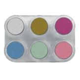 Schmink - Palet P - Parelmoer - Aqua - 6x2,5ml