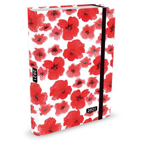 Peter Pauper Agenda - Compact - 16 maanden - Poppy - 12,7x17,8cm - 2021