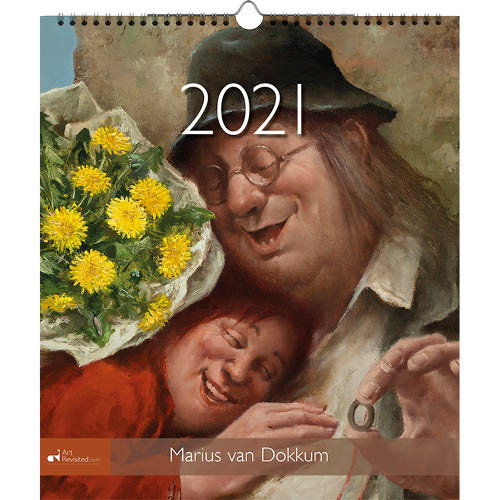 Art Revisited Kalender - Maandkalender - Marius van Dokkum - 30x34,5cm - 2021