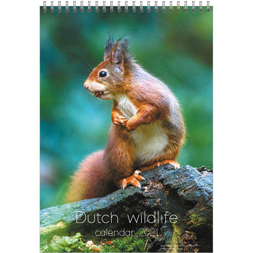Comello Kalender - Maandkalender - Dutch wildlife - 23,5x33,5cm - 2021