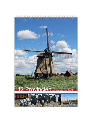 Comello Kalender - Maandkalender - 12 provinciën - 23,5x33,5cm - 2021