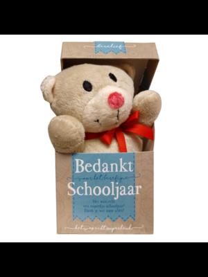 Miko Knuffel - In doosje - Bedankt schooljaar